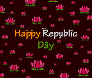 Happy Republic Day of India with lotus Royalty Free Stock Photos