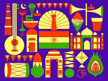 Happy Republic Day of India patriotic background Royalty Free Stock Images