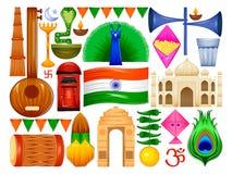 Happy Republic Day of India patriotic background Stock Images