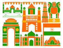 Happy Republic Day of India patriotic background Stock Images