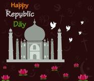 Happy Republic Day of India with Taj Mahal Royalty Free Stock Photos