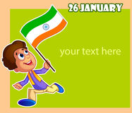 Happy Republic Day of India Stock Photography