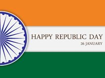 Happy Republic Day of India. 26th January. Vector illustration Stock Images