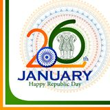 Happy Republic Day of India tricolor background for 26 January. Easy to edit vector illustration of Happy Republic Day of India tricolor background for 26 Stock Photo