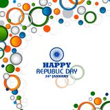 Happy Republic Day of India tricolor background for 26 January. Easy to edit vector illustration of Happy Republic Day of India tricolor background for 26 Royalty Free Stock Images