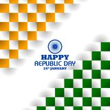 Happy Republic Day of India tricolor background for 26 January. Easy to edit vector illustration of Happy Republic Day of India tricolor background for 26 Royalty Free Stock Photo