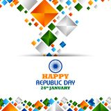 Happy Republic Day of India tricolor background for 26 January. Easy to edit vector illustration of Happy Republic Day of India tricolor background for 26 Royalty Free Stock Photography