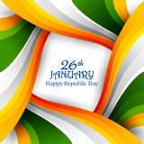 Happy Republic Day of India tricolor background for 26 January. Easy to edit vector illustration of Happy Republic Day of India tricolor background for 26 Royalty Free Stock Image