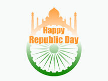 Happy Republic Day of India. Vector illustration Stock Photography