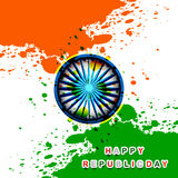 Happy republic day indian flag grunge tricolor  Royalty Free Stock Photography