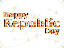 Happy Republic Day made with blocks. Royalty Free Stock Photos