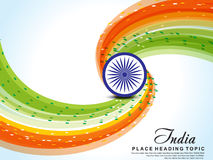 Happy republic day wave background Stock Photo