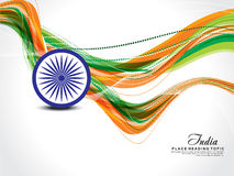 Happy republic day wave background Stock Photography