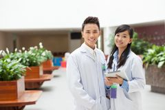Happy researchers Stock Image