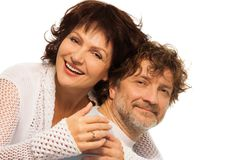 Happy respectful old couple Stock Photography