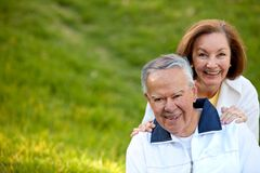 Happy retired couple Royalty Free Stock Images