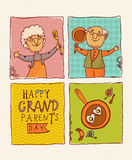 Happy retired couple. Happy grandparents day Stock Image