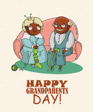 Happy retired couple. Happy grandparents day Royalty Free Stock Photography