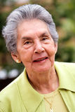 Happy retired woman Royalty Free Stock Images