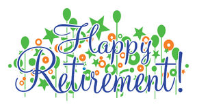 Happy Retirement Banner. Is a design that would be great for any retirement or retiring party or celebration. Can be used for flyers, invitations, t-shirts, etc Royalty Free Stock Photography