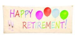 Happy retirement banner Stock Photo