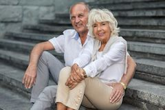 Happy retirement with close person Royalty Free Stock Image