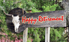Happy Retirement Sign. Royalty Free Stock Photo