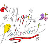 Happy Retirement Text. An image of happy retirement text Royalty Free Stock Photos