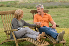 Happy retirement together Royalty Free Stock Photo
