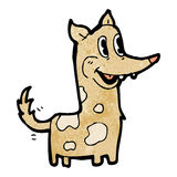 Happy retro cartoon dog wagging tail Stock Photography