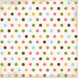 Happy Retro Dots Textured Background Stock Photo