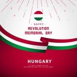 Happy Revolution Memorial Day Vector Template Design Illustration. Happy Revolution Memorial Day Vector Design Illustration stock illustration