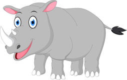 Happy rhino cartoon Royalty Free Stock Photo