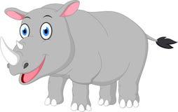 Happy rhino cartoon Royalty Free Stock Photo