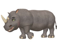Happy Rhinoceros Stock Photo
