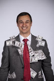 Happy rich businessman Stock Photos