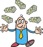 Happy rich businessman cartoon Stock Images