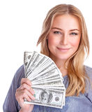 Happy rich girl Stock Photography