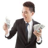 Happy rich man Stock Photo