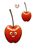 Happy ripe red cherry Royalty Free Stock Photography