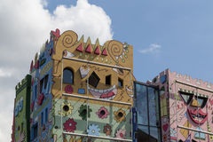 The Happy Rizzi House in Braunschweig, Germany. Braunschweig, Germany - August 23, 2014: The Happy Rizzi House by James Rizzi royalty free stock photos
