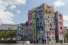 The Happy Rizzi House in Braunschweig, Germany. Braunschweig, Germany - August 23, 2014: The Happy Rizzi House by James Rizzi royalty free stock photo