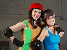 Happy Roller Derby Friends Stock Images