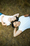 Happy and romantic asian couple Royalty Free Stock Photos