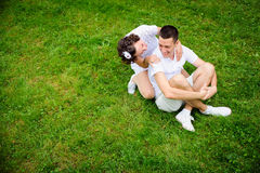 Happy romantic couple Stock Photography