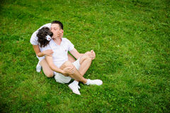 Happy romantic couple Royalty Free Stock Images
