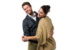 Happy romantic couple dancing Stock Photo