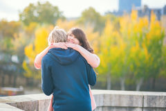 Happy romantic couple hugging tenderly Royalty Free Stock Photos
