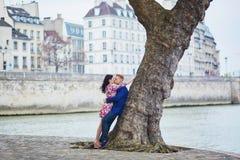 Happy romantic couple in Paris Royalty Free Stock Image
