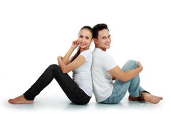 Happy romantic couple smile Royalty Free Stock Photography